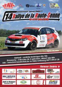 Affiche Rallye de la Haute Senne 2018